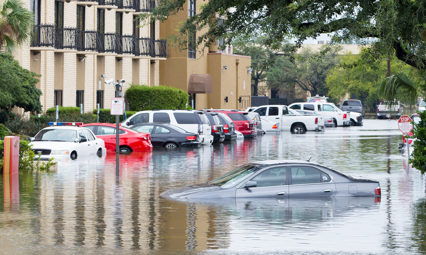 Photo of cars under water